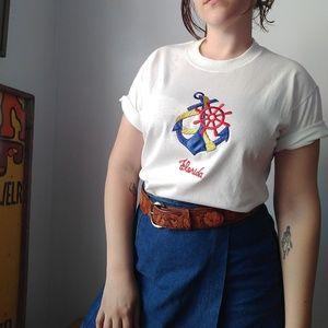Florida Anchor Applique T-Shirt